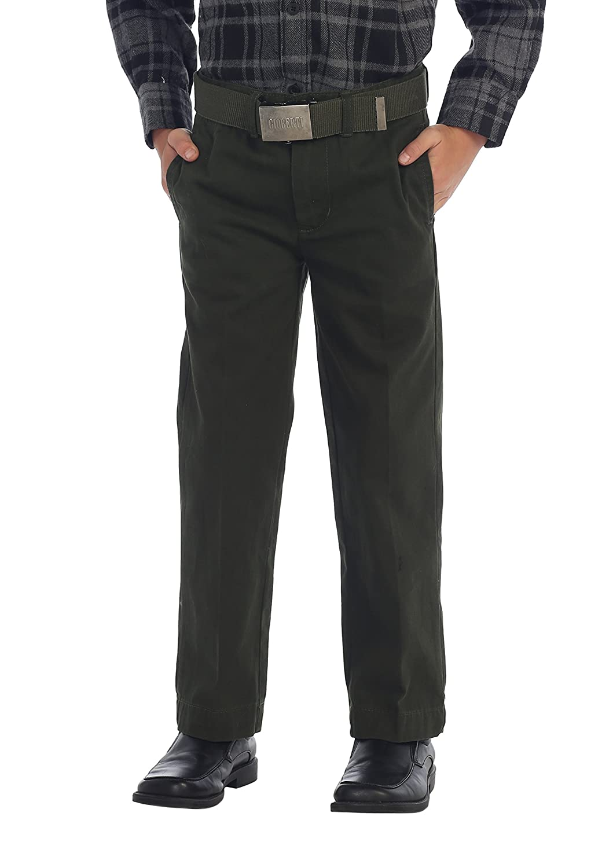 Gioberti Boys Belted Flat Front Twill Pants Bangladesh SL-87