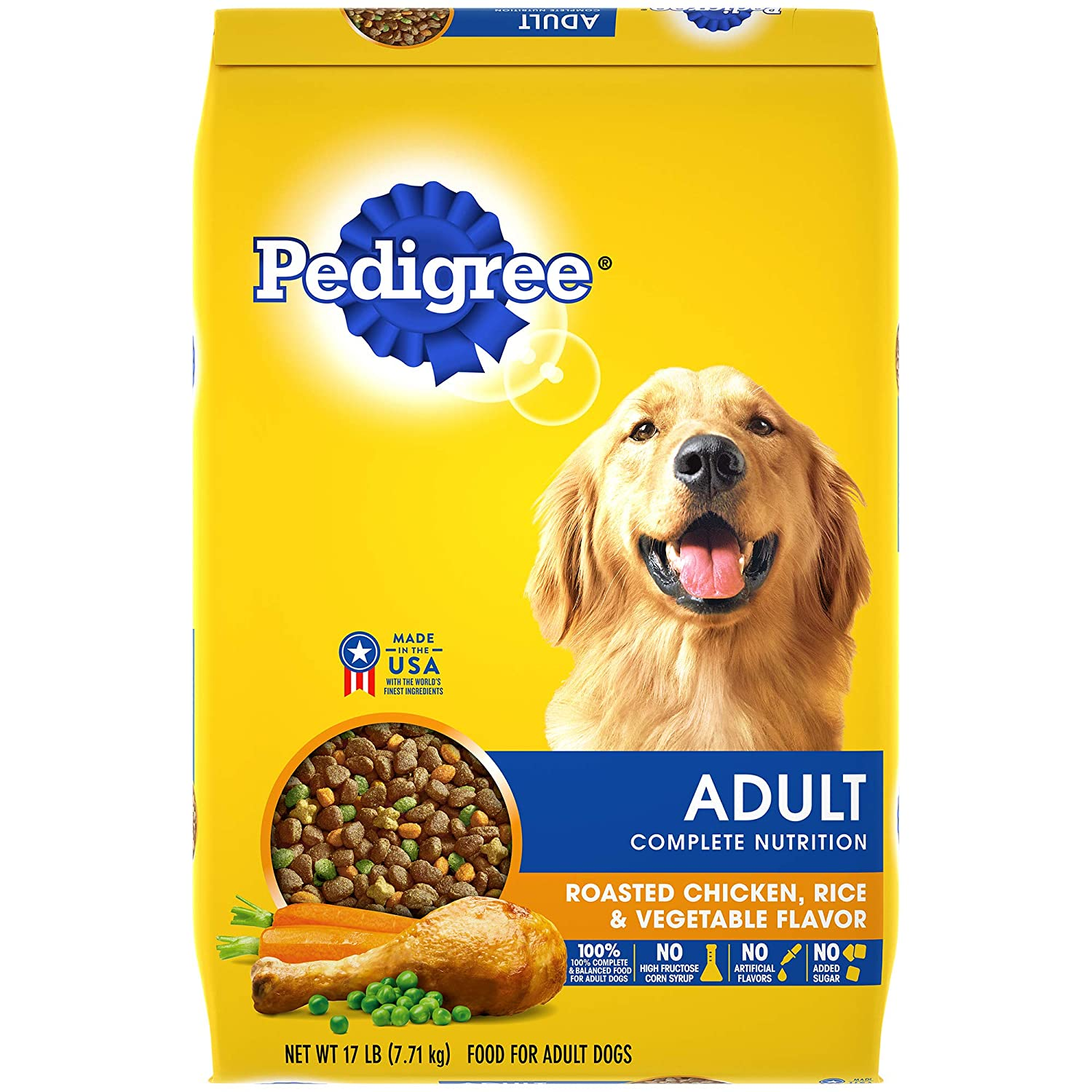 Pedigree Adult Dry Dog Food - Roasted Chicken, Rice & Vegetable Flavor