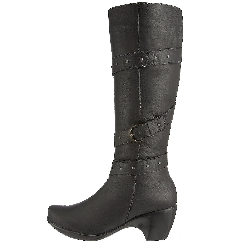 NAOT Women's Allure Chelsea Boot B001AIPA7O 38 M EU / 7 B(M) US|Jet Black Leather