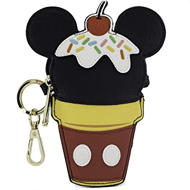 Amazon.com: Loungefly Disney Mickey cono de helado bolsa de ...