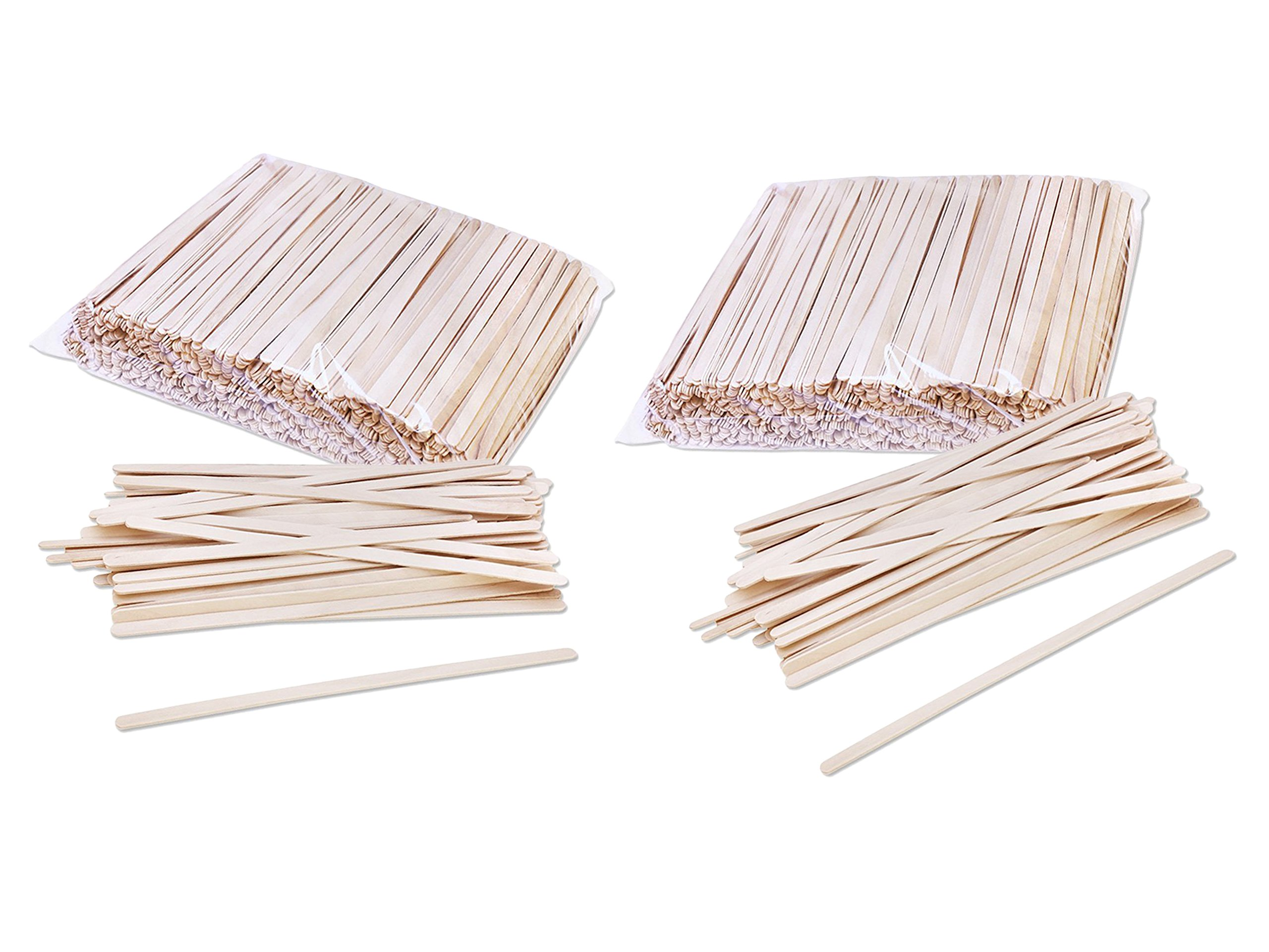 2 Pack of 1000 Solo C-10c Birch Wood 7-Inch Coffee Stirrers bundled by Maven Gifts