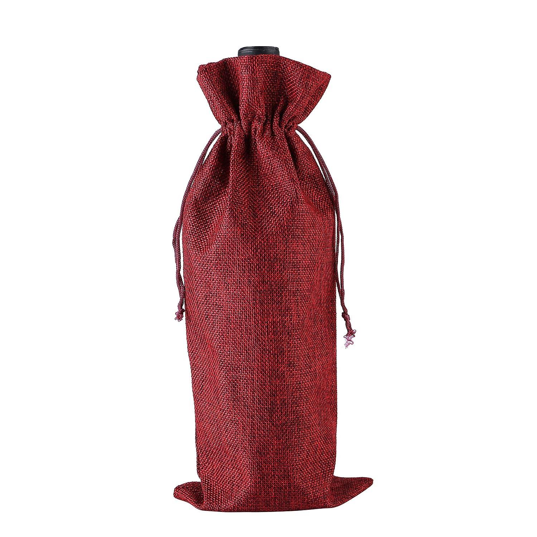 Amazon.com: Bolsa de regalo para vino, bolsa de yute para ...