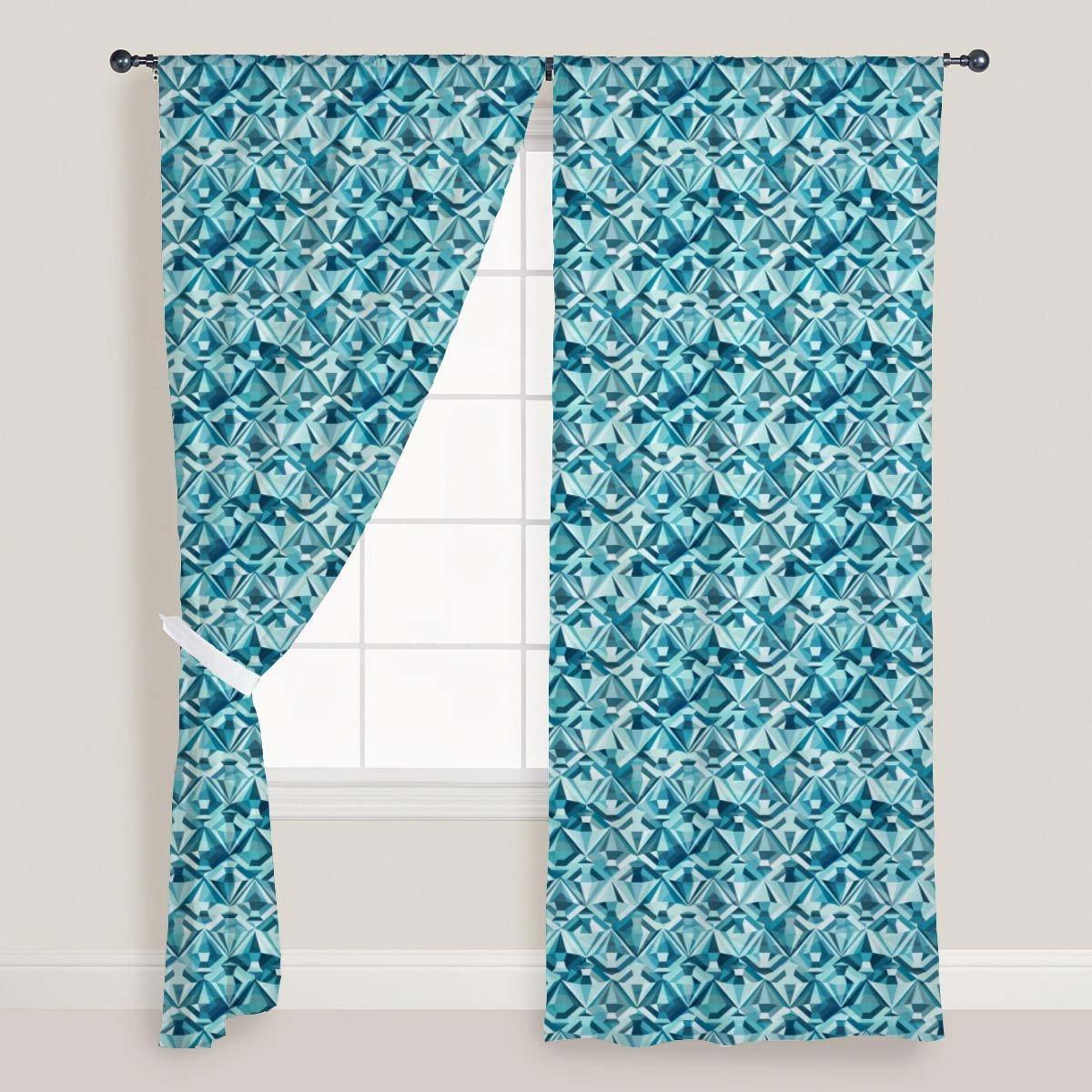 el mejor servicio post-venta ArtzFolio AZ AZ AZ Diamonds Door  Window Curtain Satin 4feet x 11feet; Set of 2 PCS  saludable