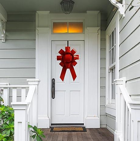Giant 22u0026quot; Front Door Bow Kit Hanging Holiday Christmas Decoration ... & Amazon.com: Giant 22