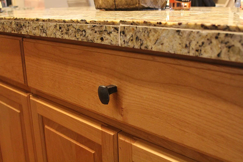 Railroad spike cabinet knob//drawer pull