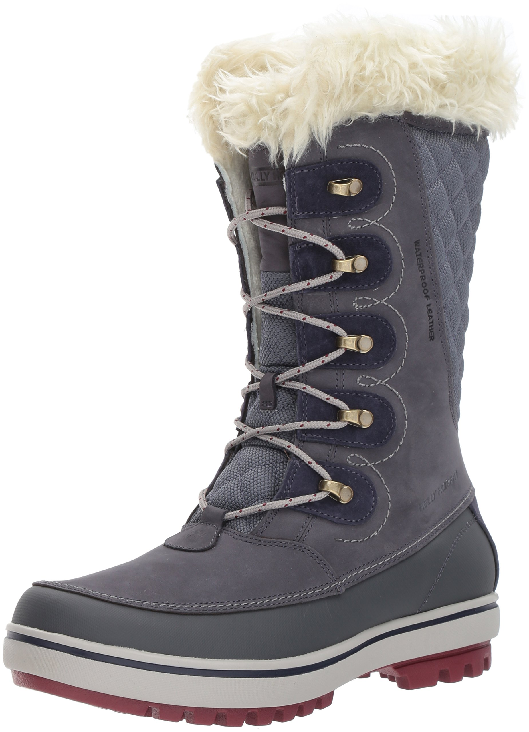 Helly Hansen Women's Garibaldi Snow Boot, Graphite Blue/Ebony/Ne, 6.5 M US