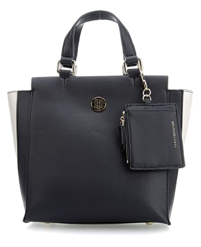 Tommy Hilfiger - Effortless Saffiano Satchel, cartera Mujer, Azul (Corporate), 12x23x21 cm (B x H T): Amazon.es: Zapatos y complementos