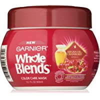 Garnier Whole Blends Color Care Mask with Argan Oil & Cranberry Extracts, 10.1 Fluid Ounce