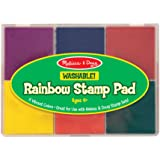 Melissa & Doug Rainbow Stamp Pad - 6 Washable Inks