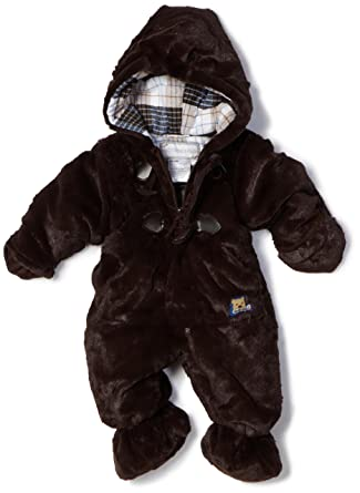 71b6642a9fa8 Amazon.com  Rothschild Baby-boys Newborn Plush Snowsuit