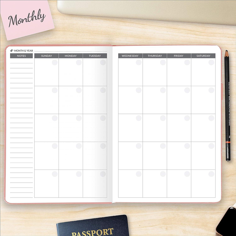 Danksagungs-Tagebuch Gl/ück und Ihre Ziele zu erreichen die beste Agenda und Tageskalender rose Puffin Planer pers/önlicher Wochenplaner A5 um Ihre Produktivit/ät zu steigern 5.8 x 8.3
