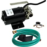"HydraPump Mini - 115-volt 1/10th HP 320 GPH Portable Transfer Water Pump with Metal Connectors for Standard 3/4"" Garden Hose"