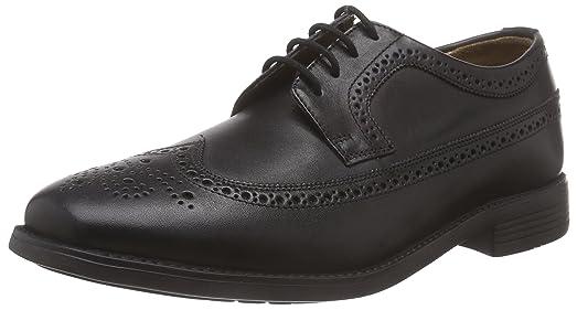 Manz Roma - zapatos con cordones de cuero hombre, color marrón, talla 45 EU