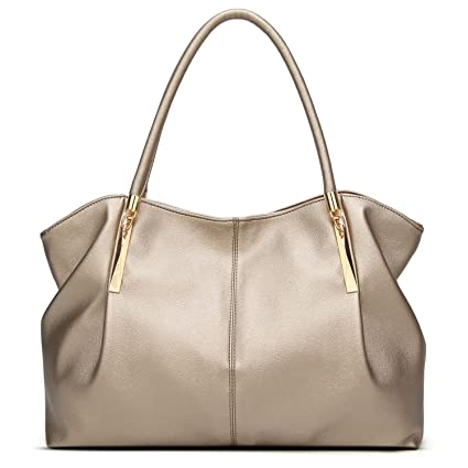 3eb62e897a Amazon.com  Forestfish PU leather Ladies Satchel Tote Bag Shoulder Bags  Handbags for Women  Home   Kitchen