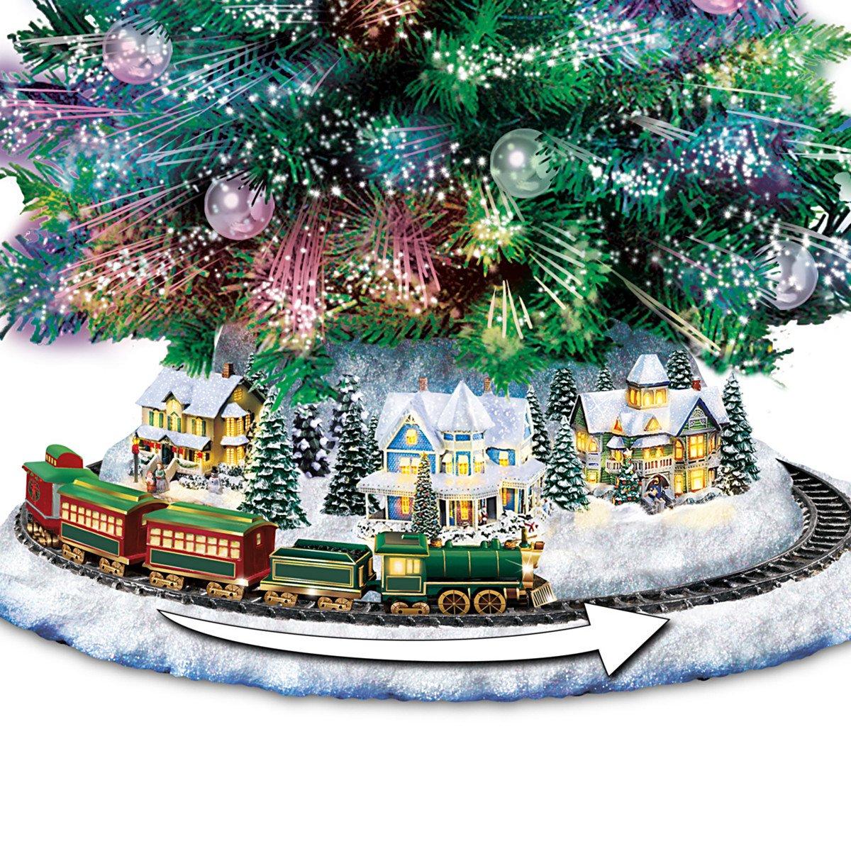 Amazon.com: Thomas Kinkade Holiday Sparkle Color-Changing Fiber ...