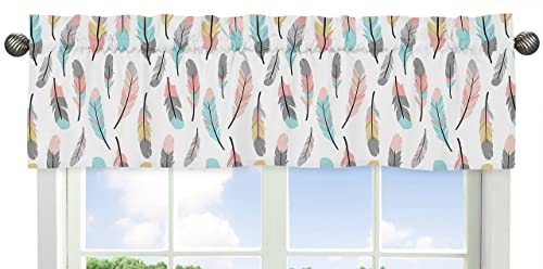Deconovo Light Beige Valances for Kitchen Grommet Blackout Curtains Window Treatments 52×24 Inch 2 Panels