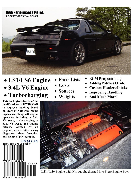 High Performance Fieros 34l V6 Turbocharging Ls1 V8 Nitrous Fiero Tail Wiring Diagram Oxide Robert Wagoner 9781411680609 Books
