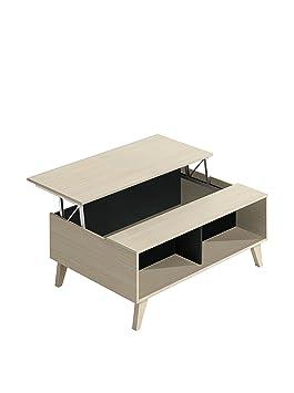 Habitdesign Avec Basse Porte 0z6633r 100x68x4156 Couleur Anthracite Montante Et Table Intégré Revue Chêne Ybfy6gI7v