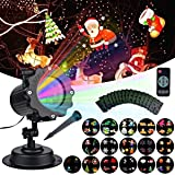 LAFALA Easter Lights Projector-2018 Light Projector Perfect for Easter's Day Decoration outdoor 16PCS Pattern slide laser LED Flood projector Landscape lamp Bulb Remote Control Waterproof