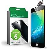 GIGA Fixxoo iPhone 6 Remplacement d'écran Kit complet LCD noir; avec écran tactile, vitre d'écran Retina, caméra et capteur de proximité - Installation guidée de réparation facile