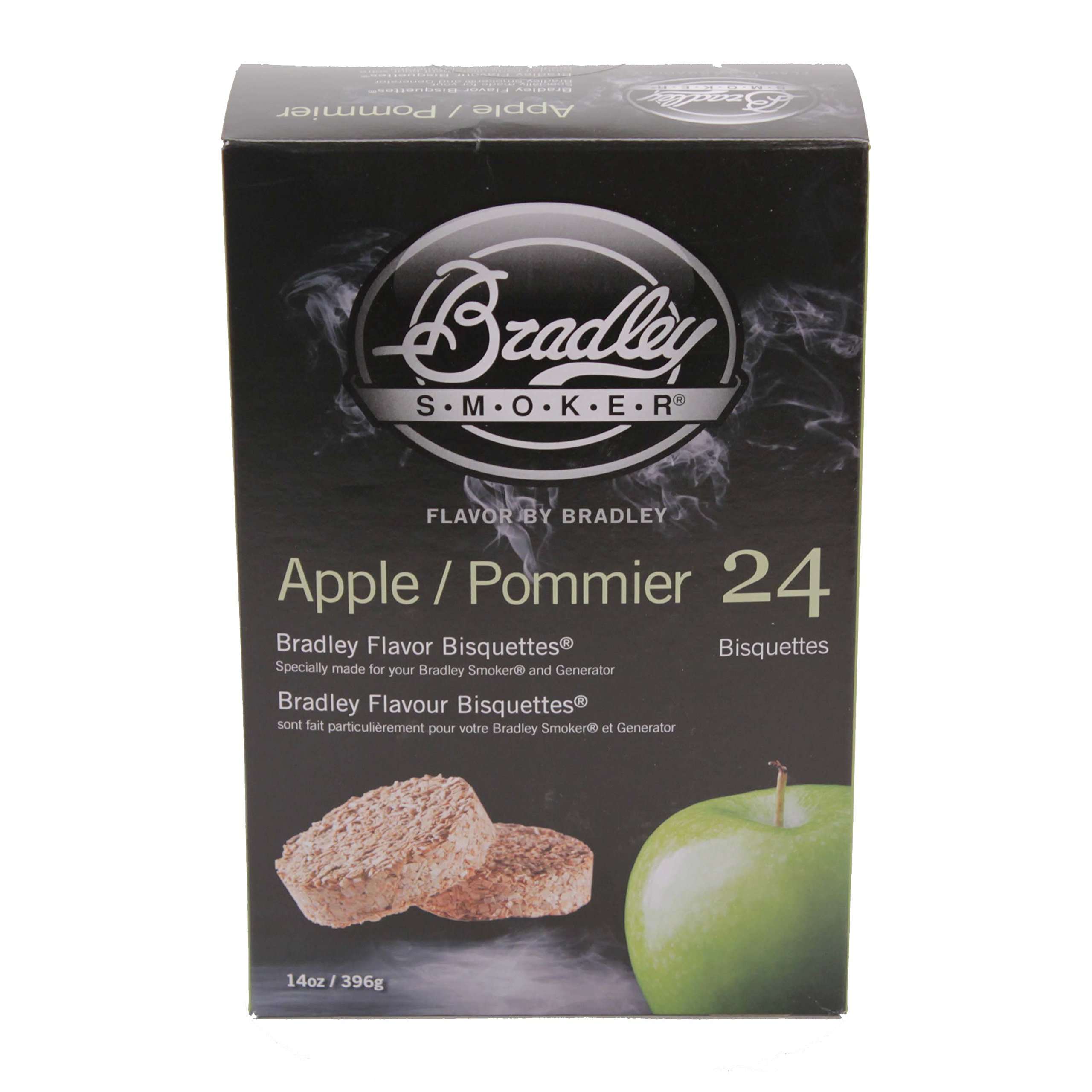 Bradley Smoker BTAP24 Bisquettes, Apple, 24-Pack, One Size by Bradley Smoker