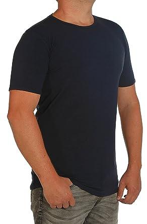 0c0fca06ba19 T-Shirt-Stretch K I T A R O -Rumpf EXTRALANG-Kurzarm mit Rundhals-in Extra