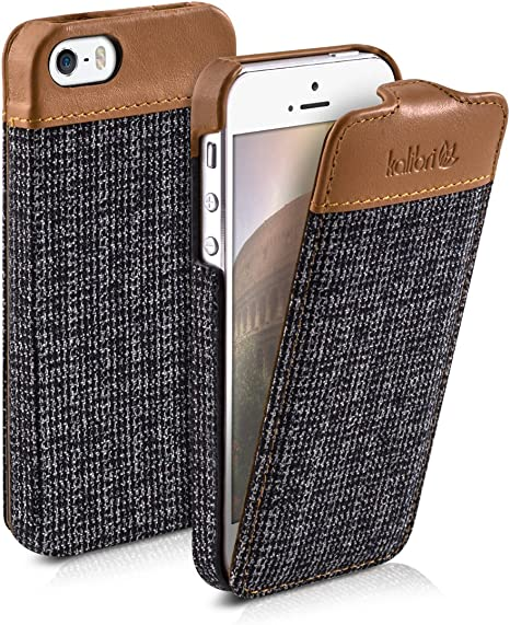 Cover custodia protettiva Pull in similpelle per Apple iPhone SE