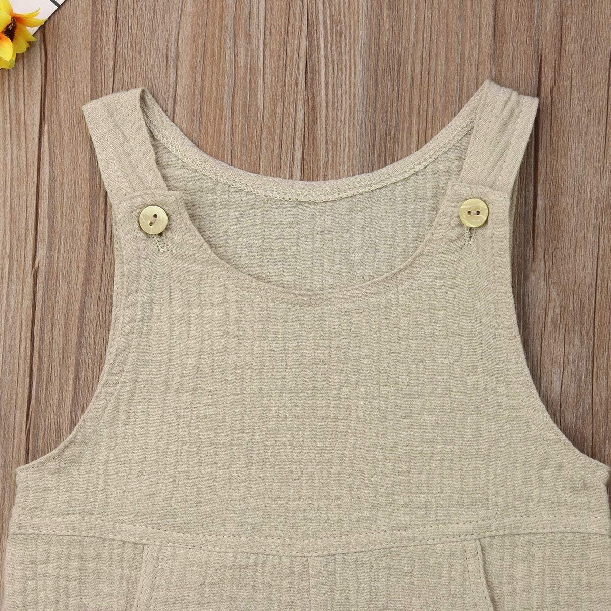CIPOGL Neugeborenes Kleinkind Baby Jungen M/ädchen Leinen Strampler Kurz Body Overall Overall Kleidung Outfit Set