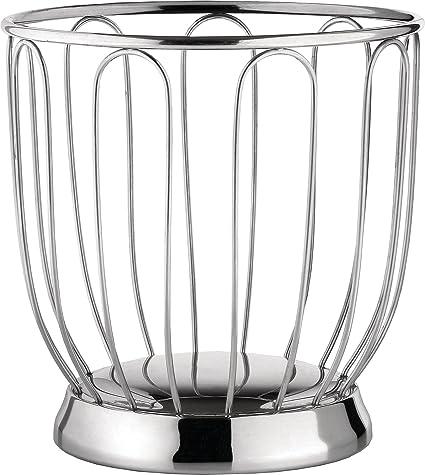 Alessi 370/19 - Cesta para cítricos de acero (19 cm), color