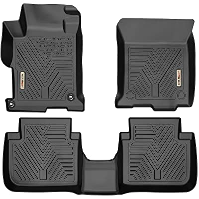 YITAMOTOR Floor Mats Compatible for Honda Accord, Custom fit Floor Liners for 2013-2020 Honda Accord Sedans, 1st & 2nd Row All Weather Protection: Automotive