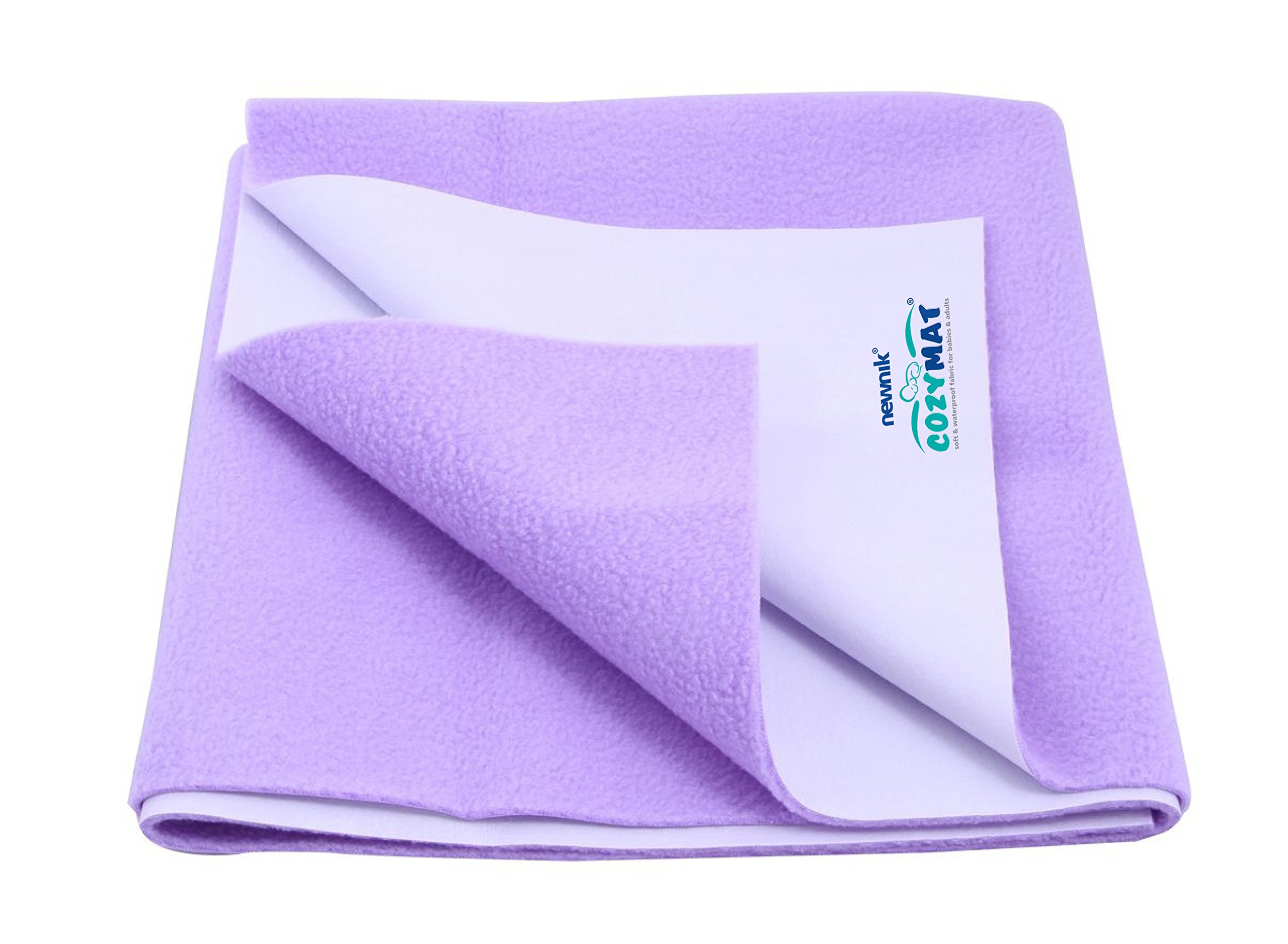 Cozymat Soft, Waterproof, Reusable Mat/Underpad/Absorbent Sheets/Mattress Protector (Size: 140cm x 100cm) Purple, L by cozymat