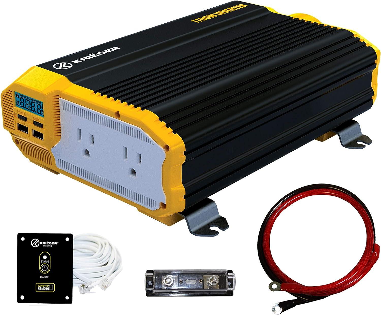 KRIËGER 1100 Watt 12V DC Power Inverter