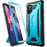 YOUMAKER Case for Galaxy Note 10 Plus, Built-in Screen Protector Work with Fingerprint ID Kickstand Full Body Heavy Duty…