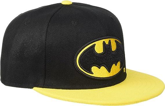 Batman Logo Gorra Snapback Negro/Amarillo: Amazon.es: Ropa y ...