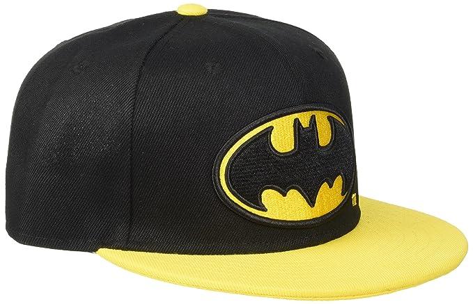 820dffdc83958 Batman Logo Gorra Snapback Negro Amarillo  Amazon.es  Ropa y accesorios