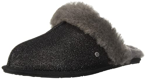 5f0c808e6f9 UGG Scuffette II Sparkle Black Glitter Textured Slipper  Amazon.co ...