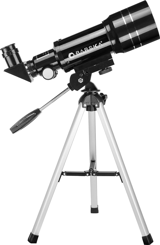 BARSKA Starwatcher 400x70mm Refractor Telescope w// Tabletop Tripod /& Carry Case