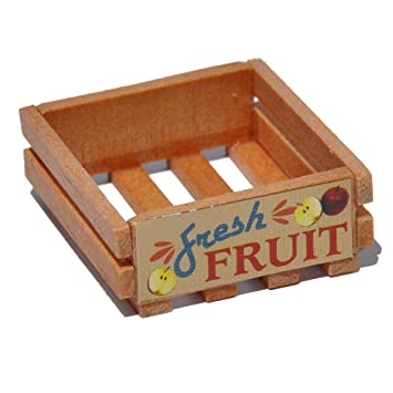 Wooden Crate For Miniature Garden Fairy Garden Fruit