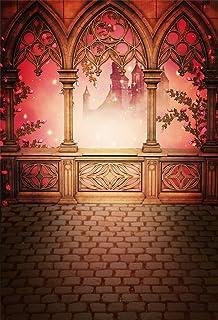Fairy Tale Castle Backdrop Photography Romantic Stone Pavilion Brick Floor Princess Wedding Photographic Backgrounds Children Photo