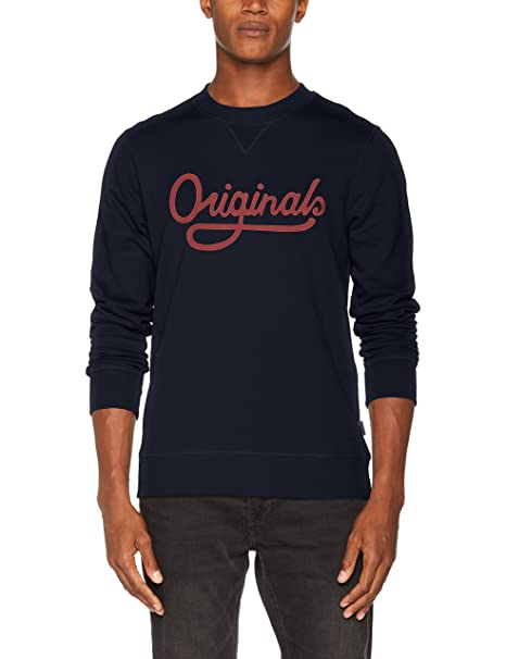 Jorwall Sweat Crew Neck, Sudadera para Hombre, Azul (Total Eclipse Fit:Reg), Large Jack & Jones
