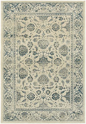 Oriental Weavers Linden Area Rug, 8 x 11 , Ivory Blue