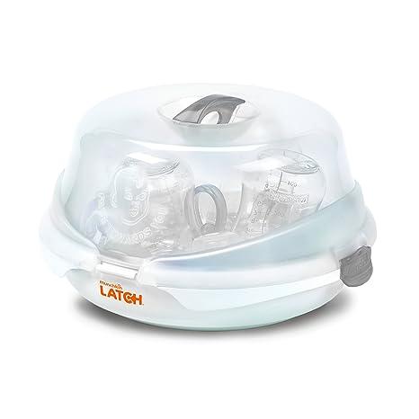 Munchkin LATCH - Kit Inicial de Lactancia para Recien Nacidos con Esterilizador para Microondas (Blanco)