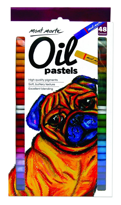 High Quality Pigment Colours Mont Marte Oil Pastels 48pce