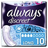 Always Discreet Long Incontinence Pads+ for Sensitive Bladder - Pack of 40