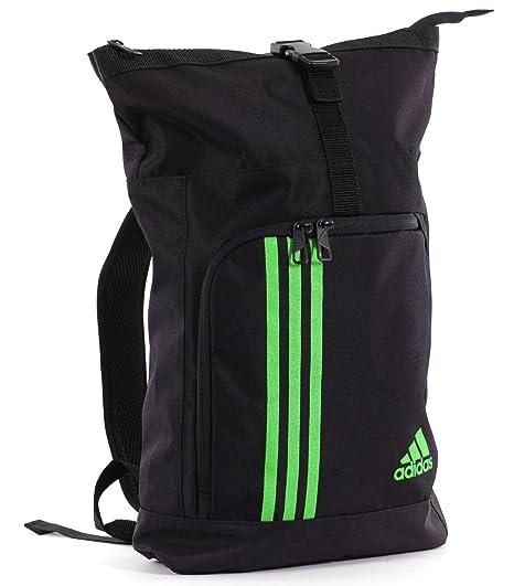 Amazon.com  adidas Black Green Combat Rolltop Backpack  Sports ... 62da17232d78e