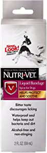 Nutri-Vet Liquid Bandage Spray for Dogs, 2-Ounce