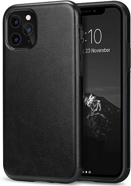 TENDLIN Cover iPhone 11 PRO Max Pelle Ibrida TPU Custodia Compatibile con iPhone 11 PRO Max (Nero)