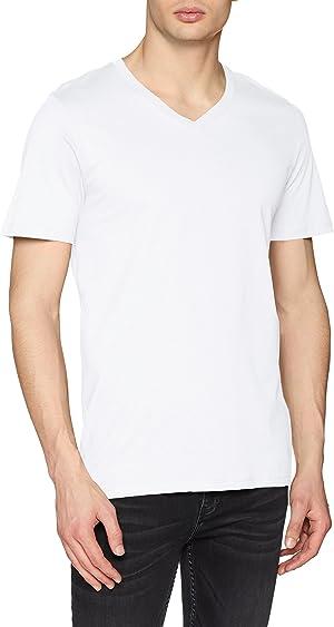 Camisetas blancas de cuello de pico Jack&Jones