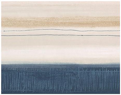 Norwall Prepasted Wallpaper Border Abstract Modern Art Navy Blue
