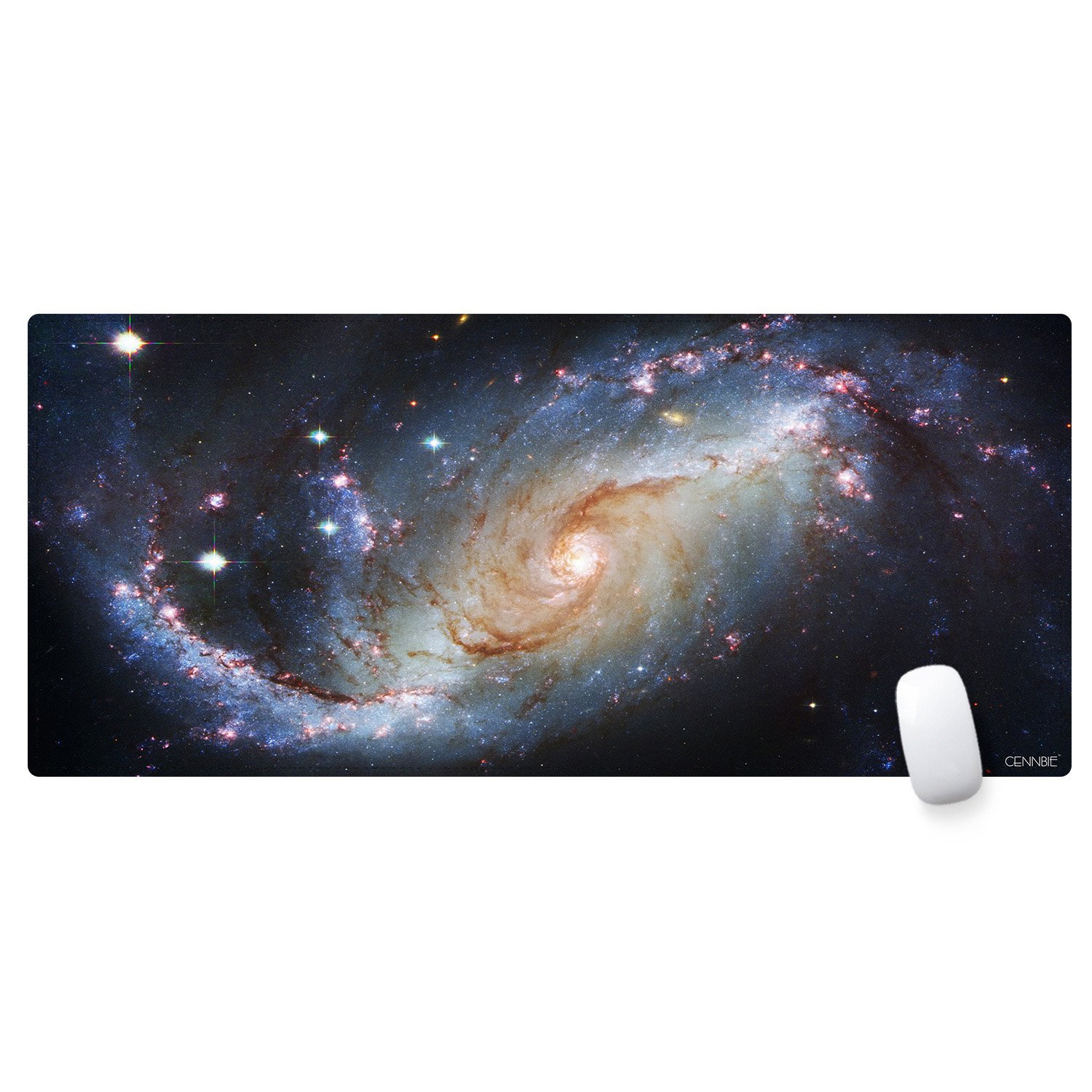 CENNBIE Extended XXL Gaming Mouse Pad 35.4'x15.7'x0.08' Non-Slip Rubber Base &Smooth Surface (Worldmap) MP9040-118